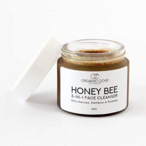 organic honey face cleanse exfoliate
