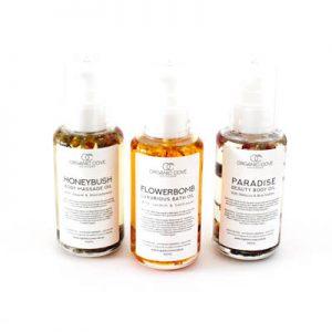 body oil gift set